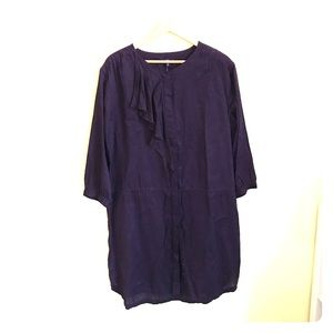 NWT! Gap Ruffle & Drawstring Dress!